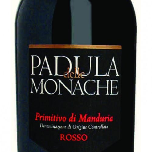 """""""PADULA DELLE MONACHE"""" PRIMITIVO DI MANDURIA D.O.C."""